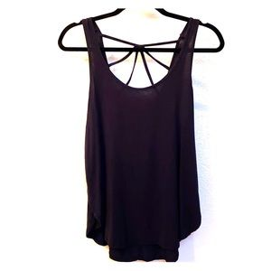 Black Hollister Strappy Back Tank Top